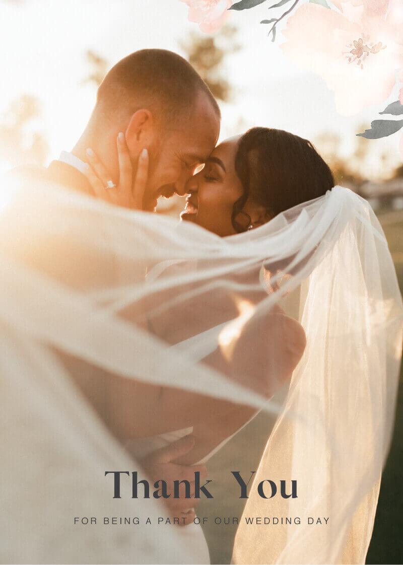 Ivory Garden Thank You - Wedding Thank You Cards