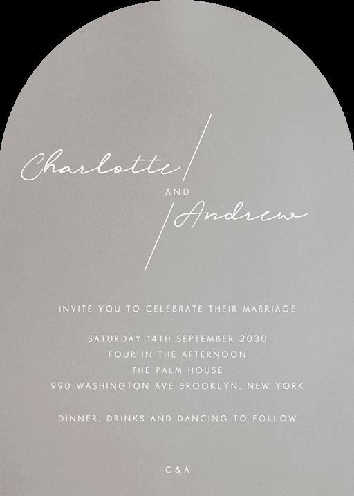Blanc Mode Wedding Invitations - wedding invitations