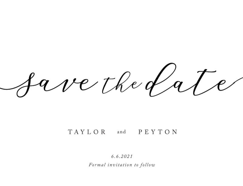 Forever Promise Save The Date - Save The Date