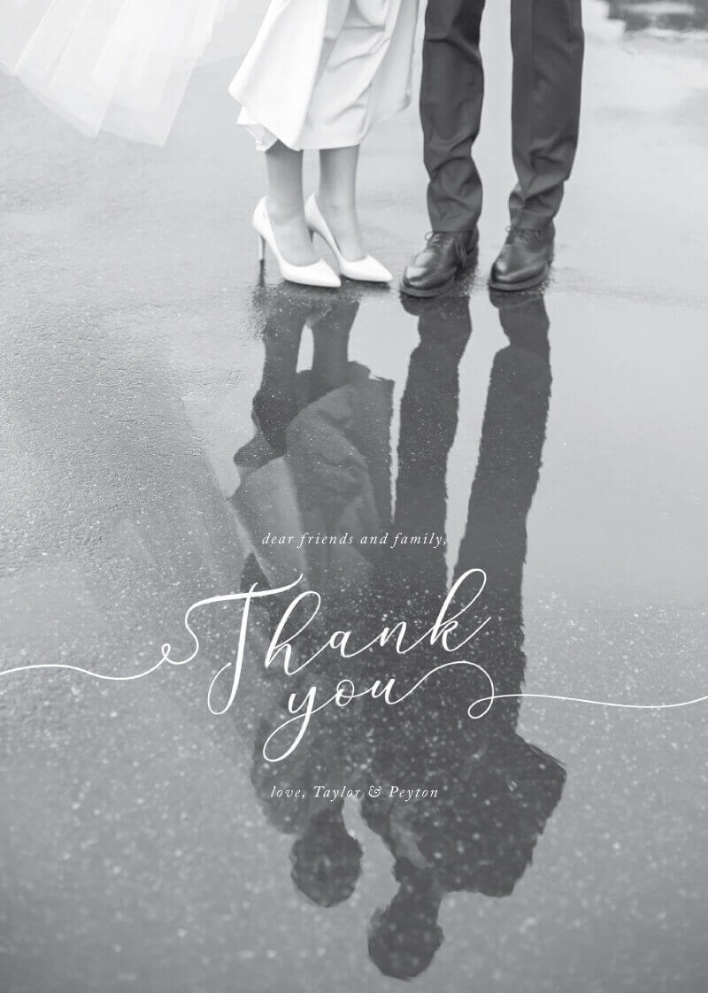 Forever Promise Thank You - Wedding Thank You Cards